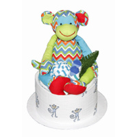 Bright & Breezy Cheeky Monkey Nappy Cake
