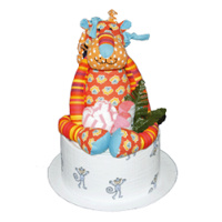 Lucky the Lion Nappy Cake