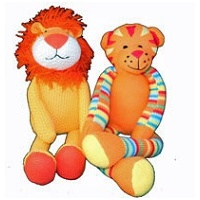Knitted Tiger, Knitted Lion